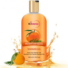 St.Botanica Mandarin & Cypress Luxury Shower Gel -  Mandarin & Cypress Oils Body Wash - 300 ml