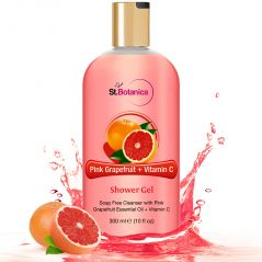 St.Botanica Pink Grapefruit & Vitamin C Luxury Shower Gel - Pink Grapefruit & Vitamin C Oils Body Wash - 300 Ml