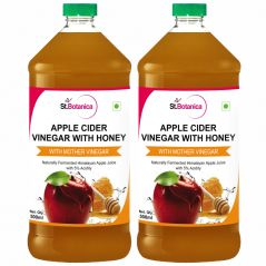 StBotanica Apple Cider Vinegar With Honey - 500ml - With Mother Vinegar - 2 Bottles