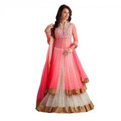 Chaniya, Ghagra Cholis - Ethnic Empire Pink Panther Net Lehenga Choli (ethnic_er10603)