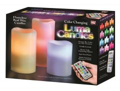 Candle Holders - Luma Candles Real Wax Flameless Candles 3 LED Candles Plus Remote Control Timer