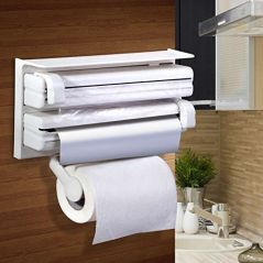 Triple Paper Dispenser Holder Paper/ Foil/ Cling Wrap (Manual)