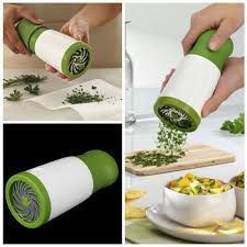 Herb Grinder Chopper Cutter Mincer With Stainless Steel Blades - Home & Kitchen