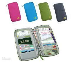 Travel organisers - Wallet Passport Holder Document Organizer Bag Case Card Zippered