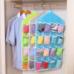 Furniture - 16 pocket clear shoe rack door hanging package hanger storage organizers