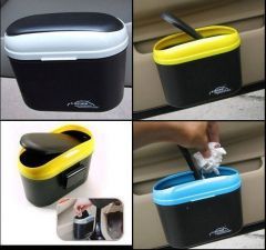Car Styling Products - Car Auto 2 Way Open Trash Can Dustbin Universal Any Car