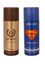 Deodorants - Denver Hamilton Prestige   Superman Strength Deodorant Body Spray ( Pack Of 2 ) - An186