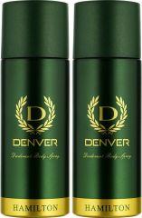 Denver Hamilton Deo Combo (Pack Of 2) Body Spray - For Men (150 Ml)