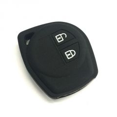 Autostark Car Remote Key Cover Silicone Black For Suzuki 2 Button Swift (black)