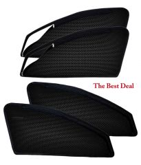 Curtain and sunshades for cars - The Best Deal In Zipper & Magnetic Car Sun Shades/ Curtain for Hyundai i20 Elite -Set of 4
