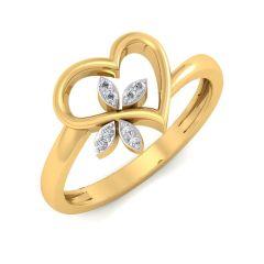 The Clover Heart Diamond Ring SDLRG-305