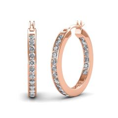 Women's Clothing - The Opulent Hoop Earring SDER-107