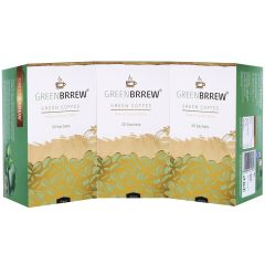 Greenbrrew Instant Green Coffee Beans Extract (Natural Flavour) - 20'sachets (PACK of 3)