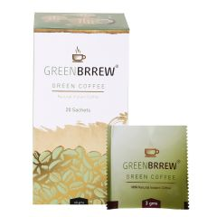 Greenbrrew Instant Green Coffee for Weight Loss, 20 Sachets (Pack of 2)