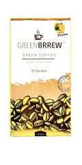 GreenBrrew Lemon Instant Green Coffee 20 Sachets, 60 Gm