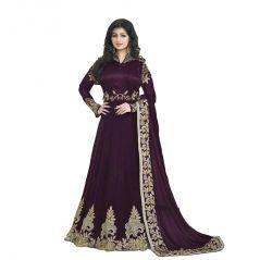Bollywood replica Aisha Takiya Party Wear  New Colletion Of purple Anarkali Georgette Suit -116F4F12DM