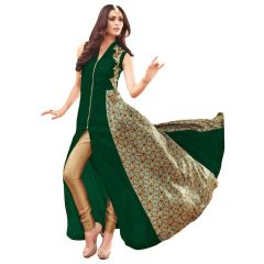 Bollywood Replica PARTY WEAR GRACEFUL GREEN GEORGETTE AND NET PARTYWEAR ANARKALI SUIT 125F4F05DM