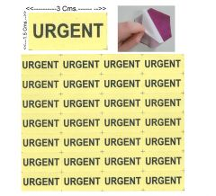"#100 Pcs SMALL Adhesive Sticker ""URGENT YELLOW "" For Safety-ST1016"