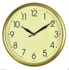"""VINTAGE GOLDEN 10"""" inches Wall Clock Simple Descent for Home & Office - WC502"""