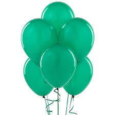 Birthday Gifts - #50 Pcs GREEN Balloons Birthday Party Marriage Decoration -GR022