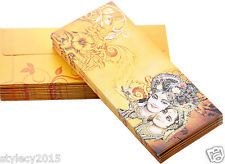Envelopes - # 25 Pcs Yellow Morden Art Shagun Envelope for Festivals Marriage Diwali Gifts-EN019