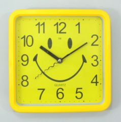Smiley Yellow Sweep Wall Clock For Kids ,Home, Office Also Best For Gifting-CW