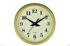 9.5 Inches 3D Golden Wall Clock For  Home & Office Dcor Best-CW016