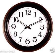 Choc Blak Red 17 Inches Wall Clock Big Number For Halls Home Office WC507