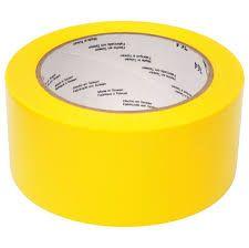 "#3 Pcs ""YELLOW BOPP Tape""  65 Met. X 2"" Wide Safe Packing-TA06"