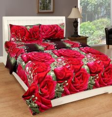 Gift Or Buy 3D Polycotton Designer Double Bedsheet (3ddb1452)