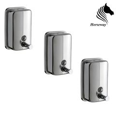 Horseway Stainless Steel Soap Dispenser - 500ml - Set of 3