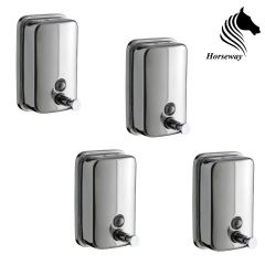 Horseway Stainless Steel Soap Dispenser - 500ml - Set of 4