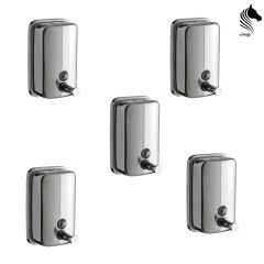 Horseway Stainless Steel Soap Dispenser - 500ml - Set of 5