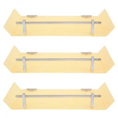 Horseway Ivory Color Marble Designed Acrylic Wall Shelf - 12x5 Inch - Set of 3