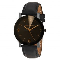 Synthetic strap - Jack rachel men's black analog watch JRF_45