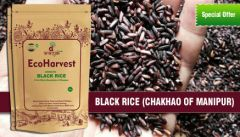 Flour, rice & pulses - Ecoharvest Aromatic Black Rice (Chak hao) 500g