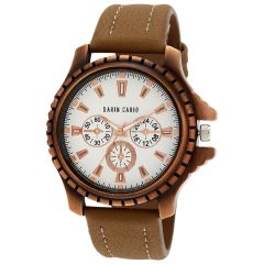 Men's Watches   Round Dial   Leather Belt   Analog - Darin Cario Analogue Watch For Men & Boys- DCW1030