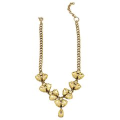 Tipsyfly Yellow color Alloy Citrine Necklace for women_213N