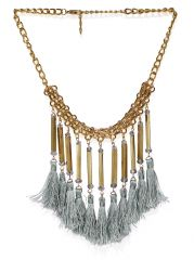 Tipsyfly Tassel layer  Gold Color Necklace  For Women