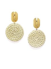 Tipsyfly Mat Weave Gold Color Drop Earrings For Women