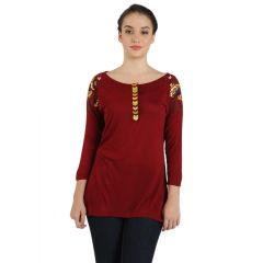 B Kind Women's Ruby Viscose Jersey Solid Top KT-981