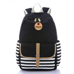 Bonmaro Bell Black Casual Canvas School/College Backpack Bag
