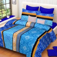 Bed Sheets - SYK 100% Cotton Double Bed Sheet, Bedsheets with 2 Pillow Covers SYKCTN015