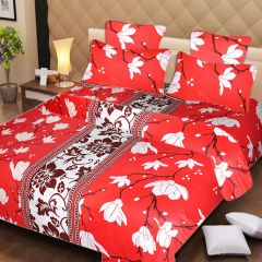Bed Sheets - SYK 100% Cotton Double Bed Sheet, Bedsheets with 2 Pillow Covers SYKCTN018