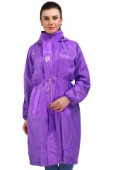 Real Rainwear Violet Nylon Scooty Coat for Women-SCVIOLT01