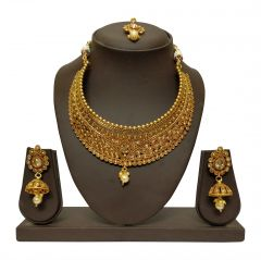 JHARJHAR GOLD TRADITIONAL NECKLACE SET (code -JV-102)