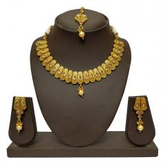 JHARJHAR GOLD TRADITIONAL NECKLACE SET (Code - JV-103)