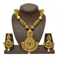 JHARJHAR GOLD TRADITIONAL NECKLACE SET (Code - JV-104)