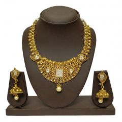 JHARJHAR GOLD TRADITIONAL NECKLACE SET (code - JV-106)