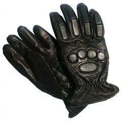 JHARJHAR BLACK LEATHER HAND GLOVES (B)